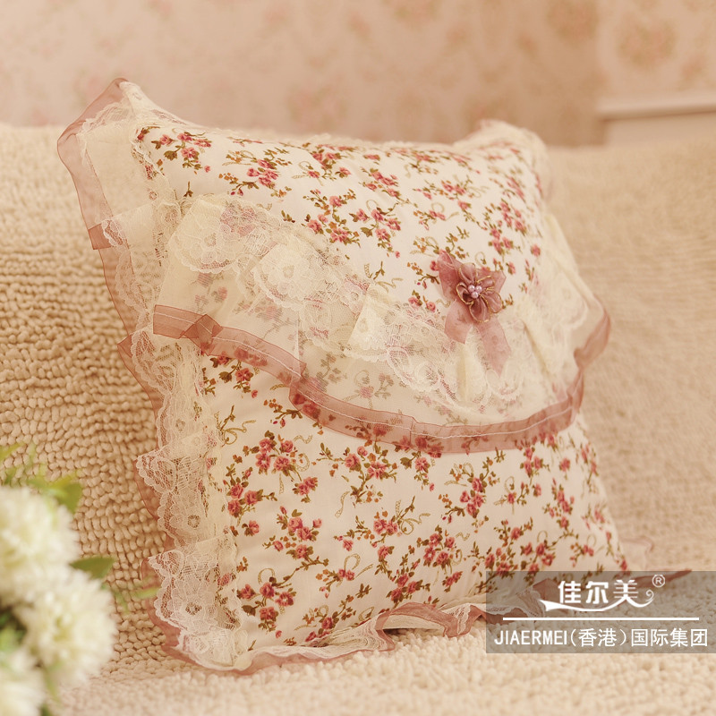 Hot-selling mona rustic lace pillow case cushion cover nap pillow sofa cushion pillow(China (Mainland))