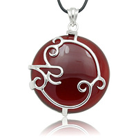 Sterling Silver Jewelry fashion vintage royal 925 silver agate pendant  2013 New Vintage Jewelry Trendy Mix Wholesale