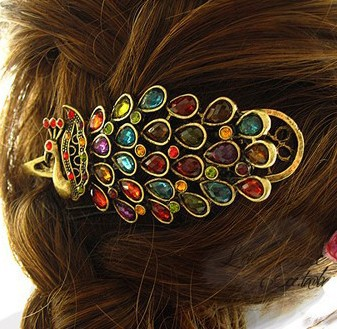 Min.Mix.order $15 Accessories vintage elegant gorgeous peacock hairpin duckbill clip banana clip hair accessory