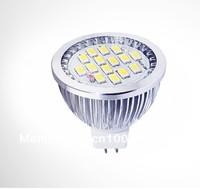 Free shipping 6w smd 5630 15leds MR16 GU5.3 B22 led spotlight 550lm DC12-24V led bulb 50pcs/lot wholesale CE&RoHS certification