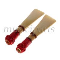 Free Shipping 2pcs Woodwind Brasswind Bassoon Reed Medium Strength 57mm W/Case Handwork