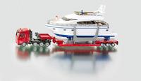 Siku alloy car models heavy duty transport truck belt yacht u1849 car model toys