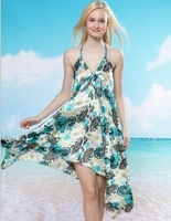 2013 New Women's Sarong Swim cover-ups  Beach dress  Summer  Bikini Blouse 20pcs Freeshipping
