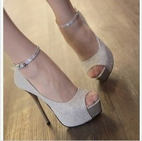 On Sale! 2013 new arrive Fashion sexy high-heeled platform thin heels female hasp single women shoes