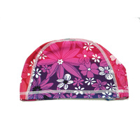 FREE SHIPPING! Hair elastic print adult swimming cap male women's child