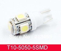 T10 White 5 SMD LED 168 194 W5W Wedge Light Bulb Lamp 12V for Car Light