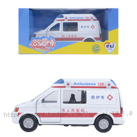 Alloy car models 120 ambulance acoustooptical WARRIOR car toy