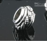 YBB Wholesale 8x5mm Zinc alloy Tibetan Silver Spacer Beads