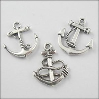 YBB 23mm-24mm Mixed Tibetan Silver Anchors Charms Pendants for Jewelry Making DIY F132