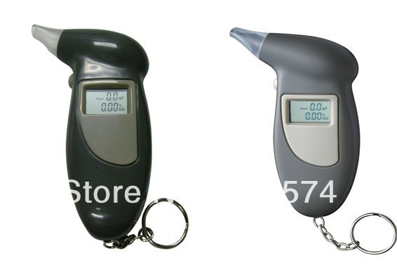 Digital LCD Breath Alcohol Analyser Tester Detector Breathalyser 4 Mouthpieces(China (Mainland))