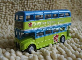 Plain double layer bus alloy bus alloy car model