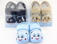 Free shpping  2013  cartoon baby shoes for infant boy toddler antiskid shoes first walker soft sole  infant shoes