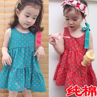 Children's clothing 2013 summer girls clothing baby 100% cotton one-piece dress skirt l