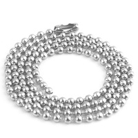 Min order $10,Free Shipping 2.4mm Stainless Steel Ball Beads Necklace Chain Stainless Steel Ball Chain KEYCHAIN ball chain