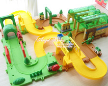 Free shipping Track blocks boy 3 electric assembling thomas small train puzzle toy 2089(China (Mainland))