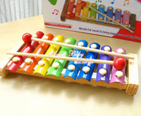 Free shipping Wooden serinette percussion instrument baby young children music educational toys