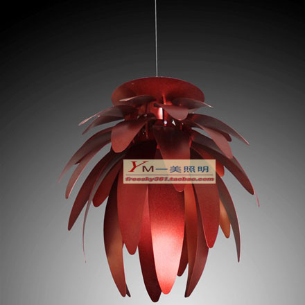 Dragon fruit pinecone blade aluminum light brief modern pendant light bedroom(China (Mainland))