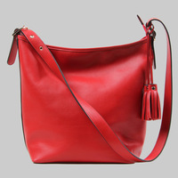 2013 fashion woman bag 100% genuine leather woman messenger bag popular Tassel cross body bags