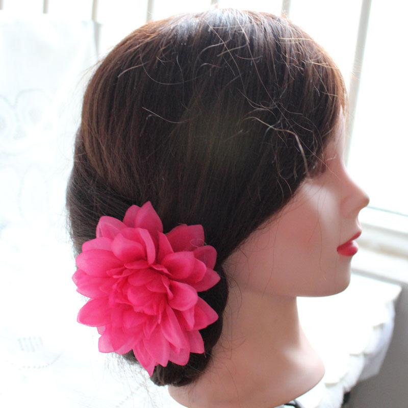 Fresh big flower bohemia lili flower brooch side-knotted clip hair accessory free shipping(China (Mainland))
