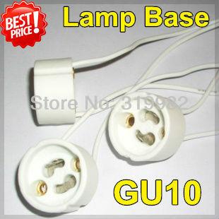 20pcs/lot, GU10 lamp base holder Socket base LED Lamp aging test holder GU10 fitting Silicon cable(China (Mainland))