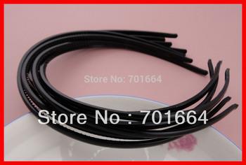 BARGAIN for BULK black 5mm mini plain flat face plastic hair headbands with teeth at eco-friendly material