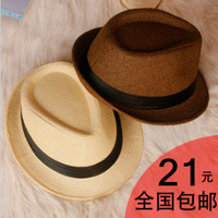Sunbonnet fashion female summer hat male strawhat fedoras jazz hat lovers beach hat