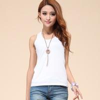 Free shipping 2013 summer plus size spaghetti strap vest female basic shirt 100% cotton sleeveless mm tank TM2