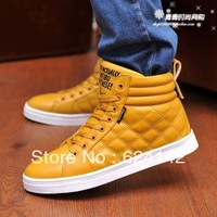 2013 men's single cotton-padded shoes boots martin boots shoes solid color casual shoes skateboarding shoes high men's boots 1