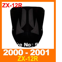 Free Shipping Windshield Windscreen for Kawasaki ZX-12R 2000-2001  Windscreen black wind deflector