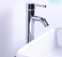 Fashion Single Handle Modern Chrome Bathroom Vessel Sink Lavatory Basin Faucet 30CM height