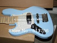 Left Hand Bass Guitar Bule 5 Strings Jazz Bass Wholesale Guitar Free Shipping