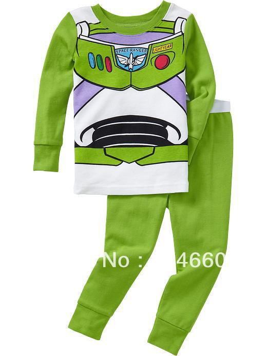 Retail 1pce sample baby/Kids pajamas sets(clothes+pants),long sleeve nightwear,2-7years-SS046(China (Mainland))