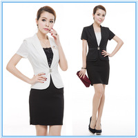 2013 work wear set women's formal suit for ladies formal office skirt business professional sets free shipping