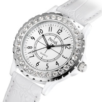 Fashion table rhinestone vintage table ceramic ladies watch waterproof fashion all-match women's watch