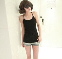 Lowest Price Women Candy Color Vest Lastest Korea Y Style Cotton Vest Body Slim Shirt Sexy One Size Top Free Shipping