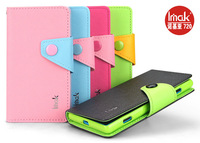 Free Shipping Genuine Brand New IMAK Color-Mix Cross Wallet PU Leather +TPU Case Cover For Nokia Lumia 720