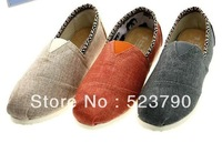 2013 New arrivals Folk style Women's  Classic Edge Cotton and linen burlap material Soft-soled casual flat canvas shoes shoe