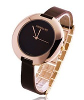 The trend of casual 2012 women's watch elegant fashion watches fashion genuine leather watchband quartz watch