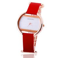 Ss women's watch vintage square genuine leather strap fashion table ladies watch
