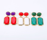 Free Shipping 2013 New Fashion Geometry Earrings stud earring (Min Order $20 Can Mix)