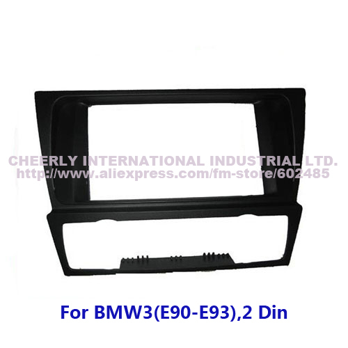 2 Din Special Car Radio Frame,Dash Kits, Front Bezel,Fascia, Installation Kit, DVD Panel for BMW 3 (E90-E93) Double Din(China (Mainland))