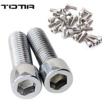 2013Hotsale-13mm Stainless steel Bolt Bolts Screw for Bike Bicycle-10 pcs/lot [u02047]