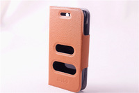 Mobile Phone Stand Filp Leather case for Samsung Galaxy W i8150 Wonder with caller ID display function Free Shipping