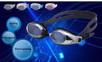 Free Shipping  plain glass / myopia Swimming Goggles men and women waterproof anti-fog swimming goggles  swimming equipmen