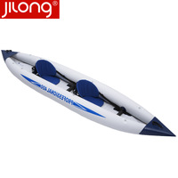 Free post  wholesale best 2013 Jilong quality product pathfinder canoe inflatable boat 000262 - 1