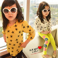 Children's clothing  kids baby spring cartoon long-sleeve T-shirt all-match gentlewomen cute 100% cotton t shirt