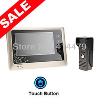 7 inch TFT LCD Monitor Color Video Door Phone Doorbell Home Intercom System 420TVL CCD IR Camera