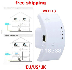 Free drop Shipping 1PC Wireless repeater 2T2R-300M WiFi Repeater 802.11N/B/G Network Router Range Expander /Extender US/EU Plug(China (Mainland))