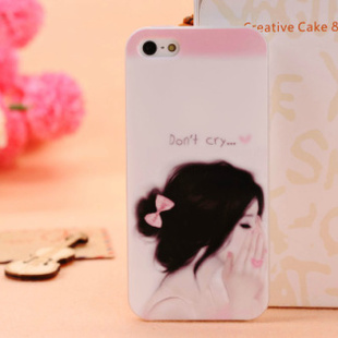 Aesthetic girl tpu soft shell  for apple   5 protective case iphone5 5 imd phone case shell mobile phone case