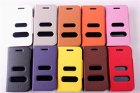 New Design Stand Filp Leather case for Samsung Galaxy W i8150 Wonder with caller ID display function Free Shipping